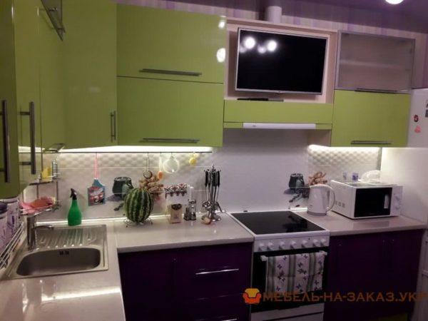 сиренео зеленая кухня мдф