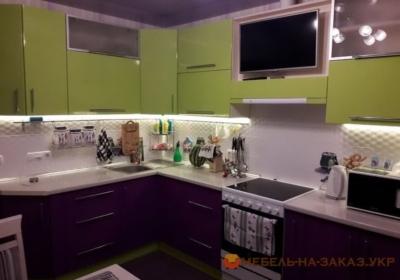 Кухня с подсветкой Борщяговка