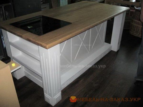 деревянный остров на кухню