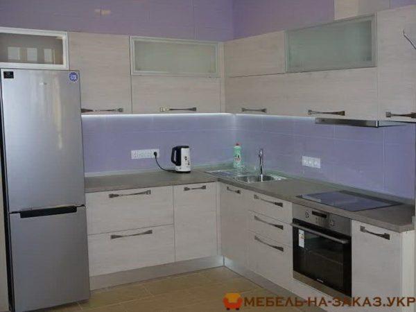 белая угловая кухня под заказ