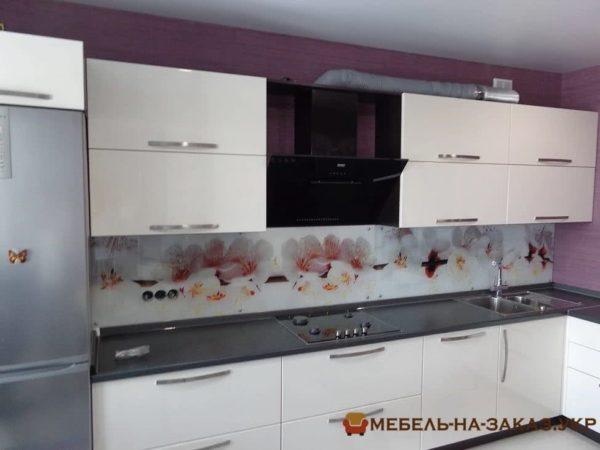 кухня с фартухом фотопечать на заказ