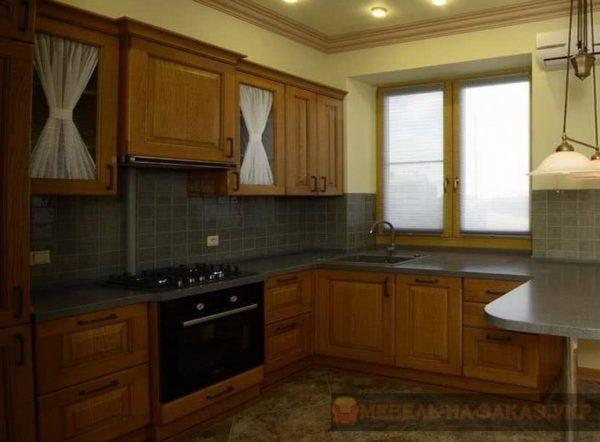 фотографии кухонь формы п