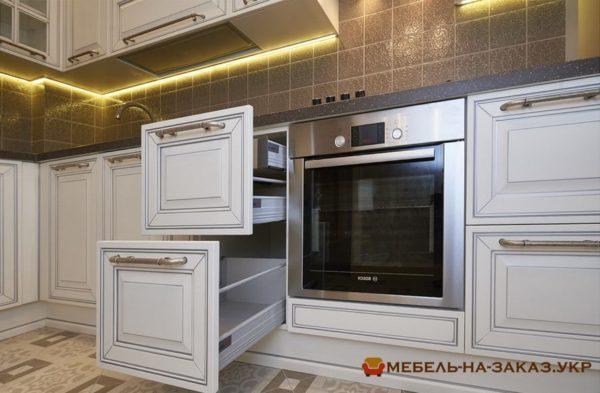 варианты выдвижных кухонных ящиков