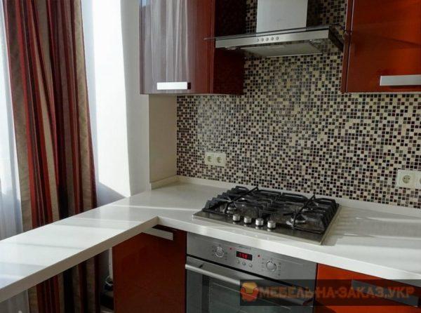 кухня красного цвета под заказ 368