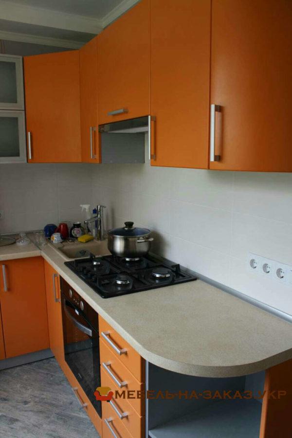 оранжевая эконом кухня на заказ