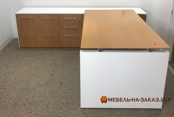модульная белая офисная мебель под заказ