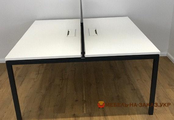 двойной офисный стол