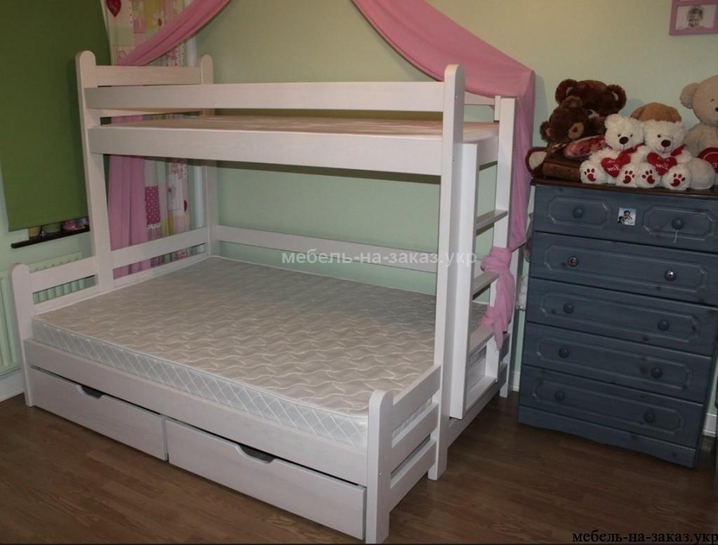 кровати из массива дерева под заказ