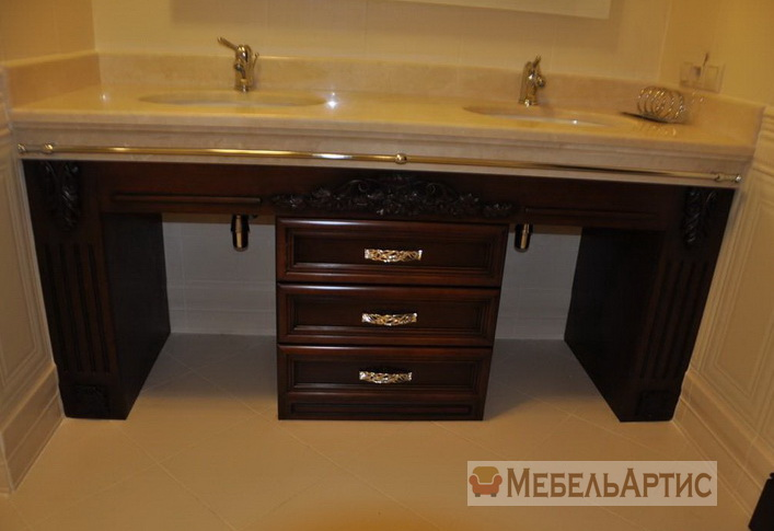 мебель из дерева для ванной