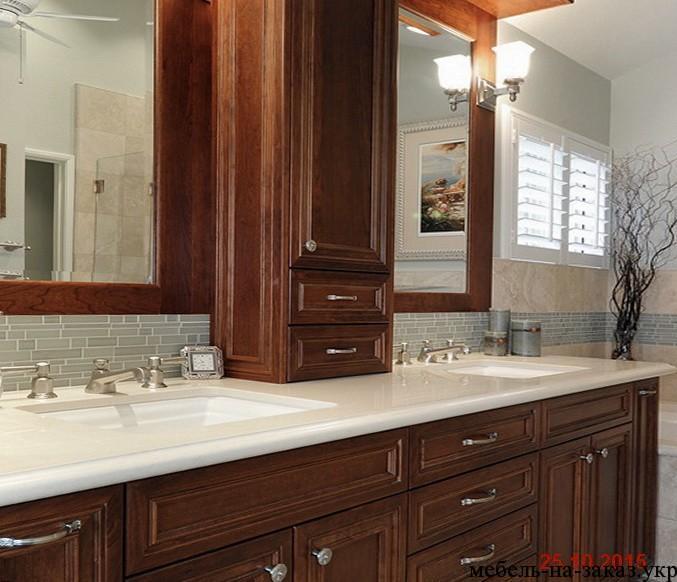 деревянная мебель для ванной под заказ