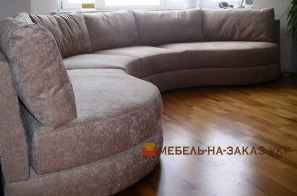 круглый диван большой