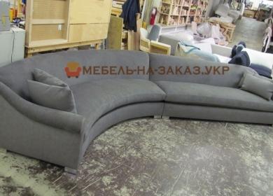 круглый диван серый
