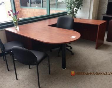п образный офисный стол на заказ
