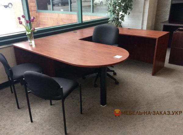п образный офисный стол
