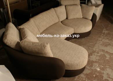 изготовление рдиусного дивана