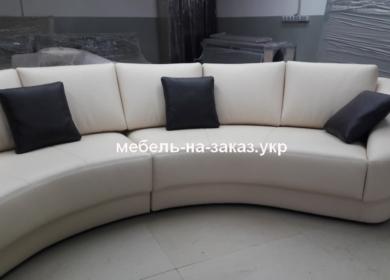 прямой белый диван под заказ