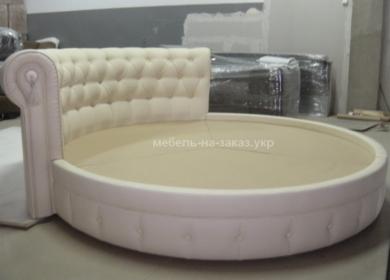 круглая кровать на заказ по индивидуальному проекту
