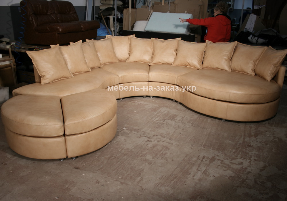большой модульный радиусный диван