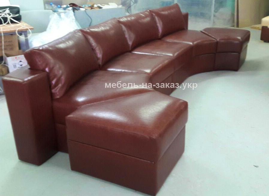 модульный округлый диван