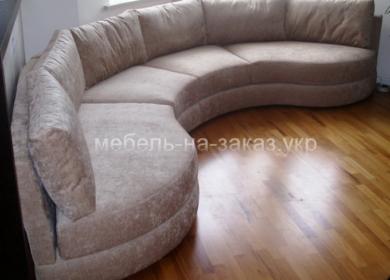 полукруглый модульный диван