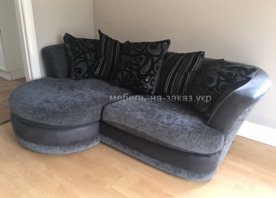 радиусный диван для гостиной