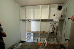 белая гардеробная Подол установка гардеробной подольский район