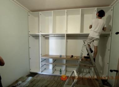 белая гардеробная Подол установка гардеробной