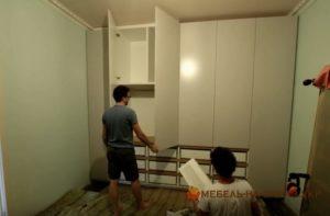 установка фасадов в шкаф спальни