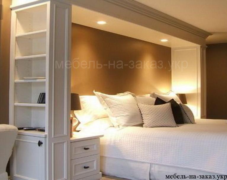 белый шкаф с кроватью на заказ