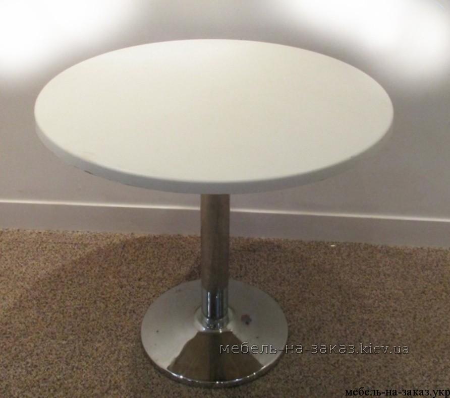 стол круглый на металлической базе