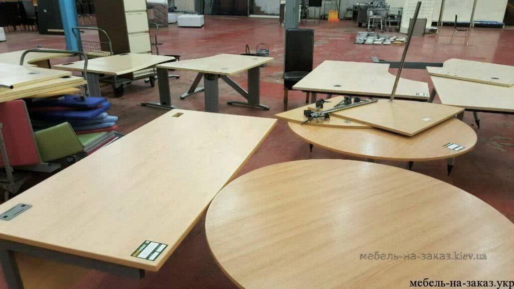 офисные столы на металлокаркасе на заказ