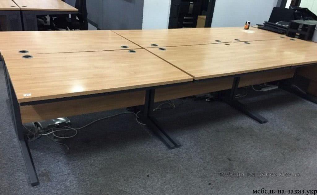 офисные столы на металлокаркасе на заказ Троещина