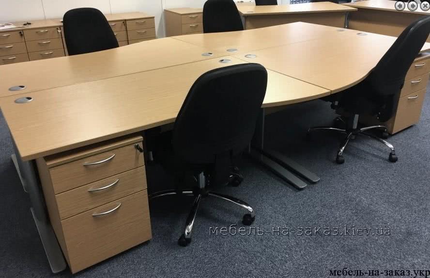 прямой офисный стол на заказ в Киеве