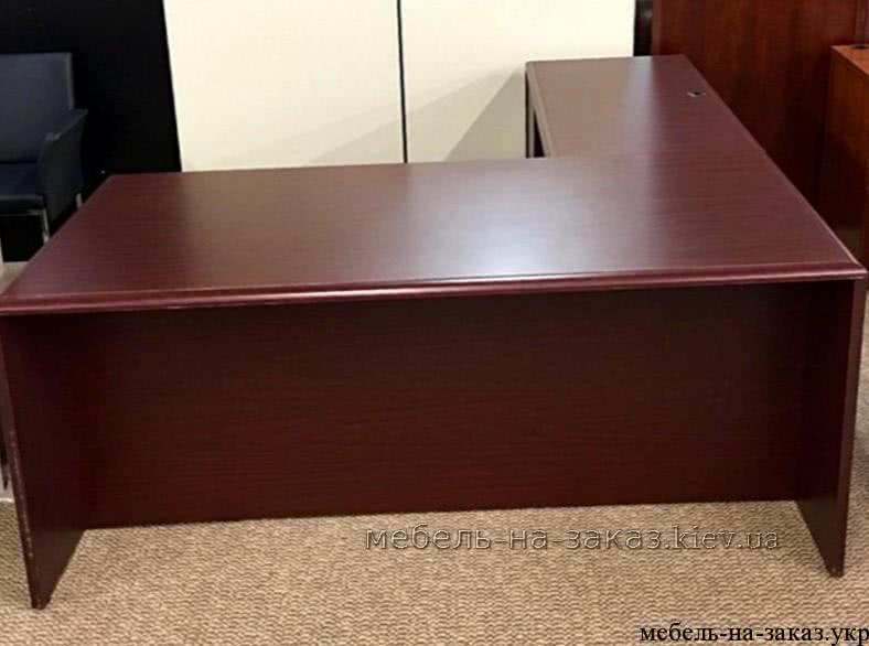 угловой стол в офис темный