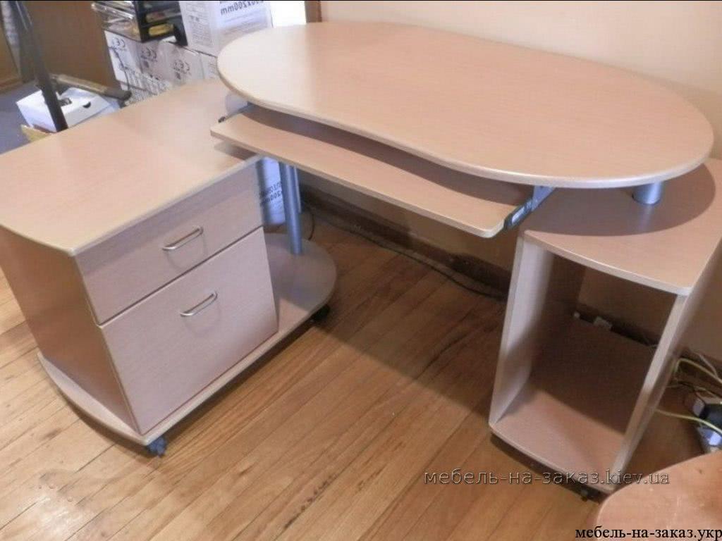 заказной офисный стол с приставной тумбой
