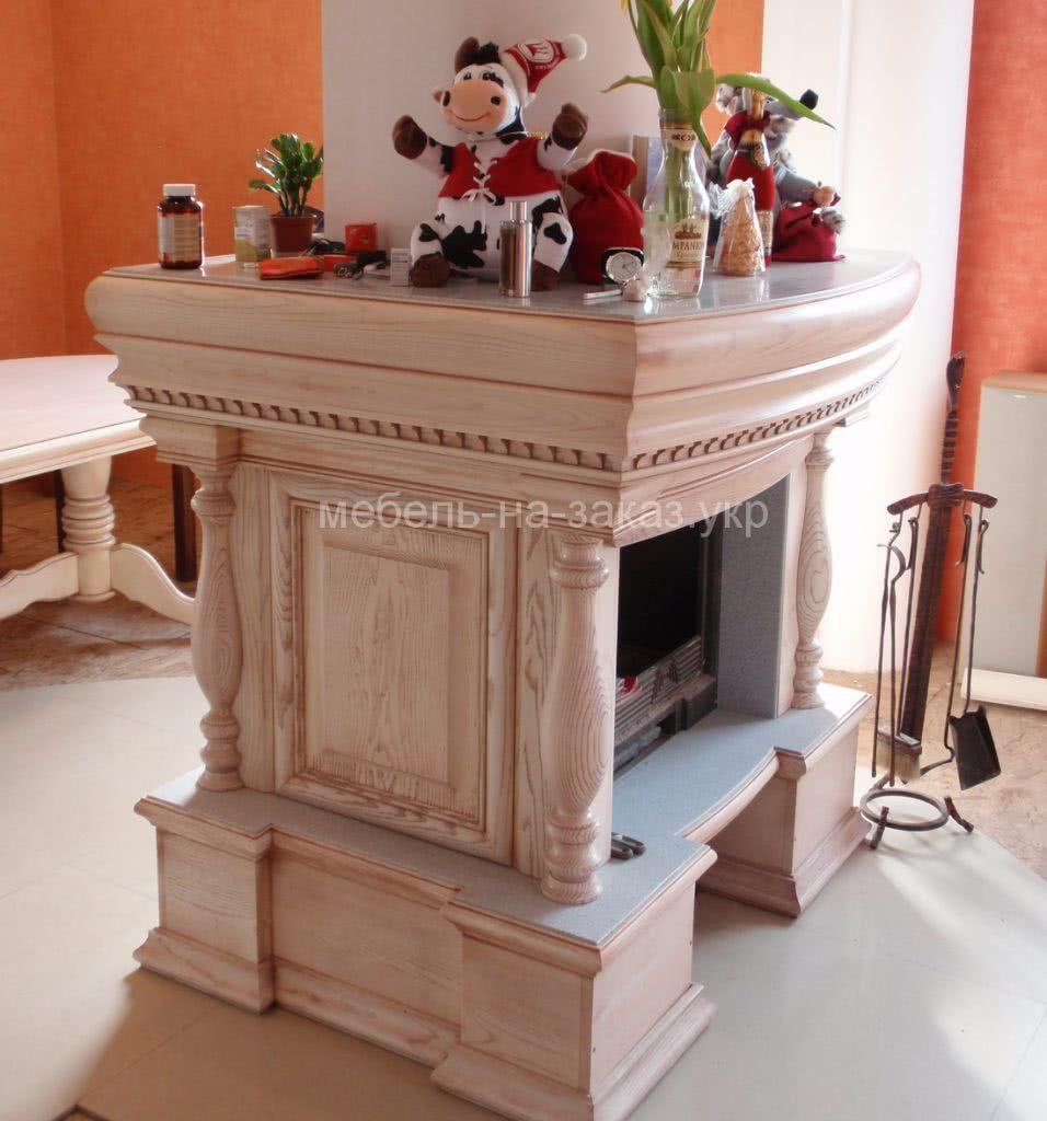 деревянный камин на заказ