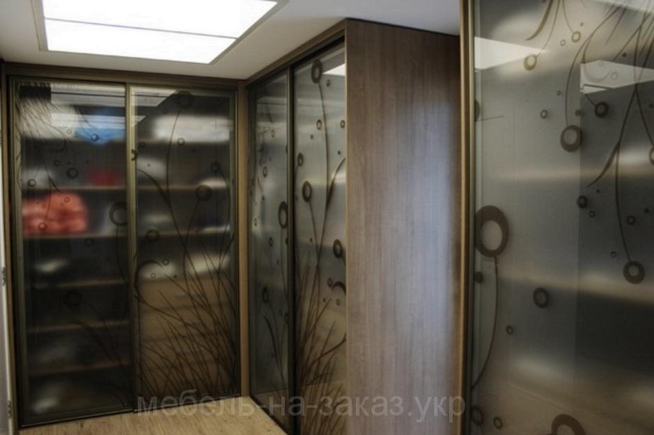 угловой шкаф купе в спальню Киев