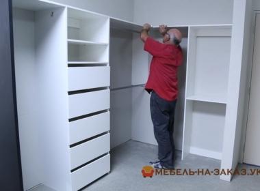 белая гардеробная на заказ Фастов