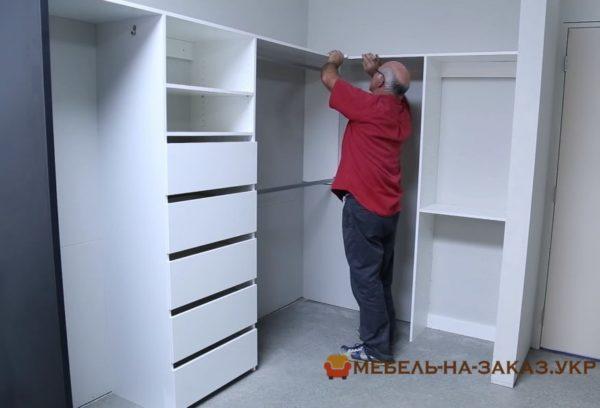изготовление и установка гардеробной