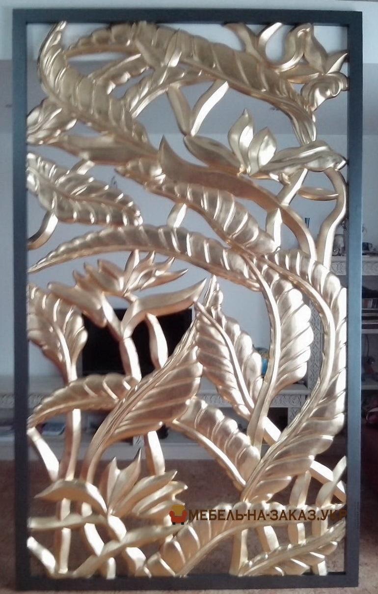 позолота на художественной резьбе по дереву