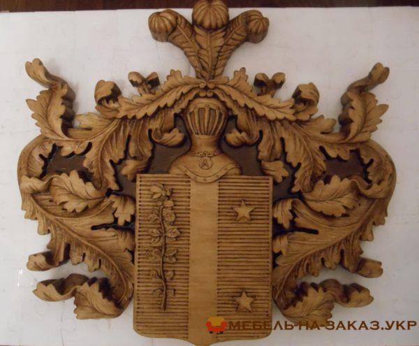 резьба фамильный герб