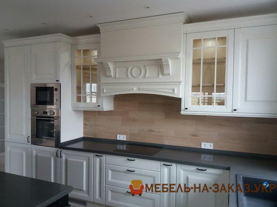 деревянная серая кухня на заказ