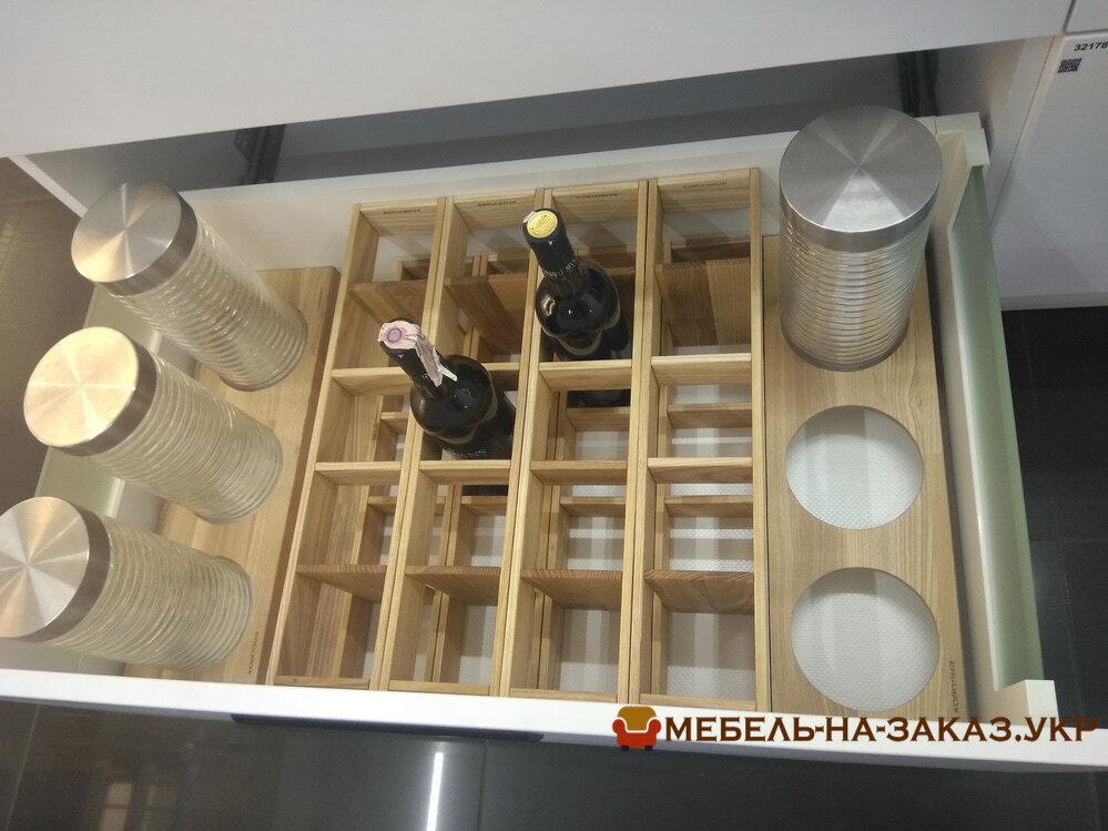 деревянный органайзер для вилок и ложок