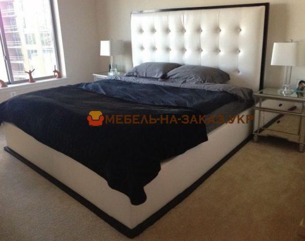 белая кровать мягкая на заказ