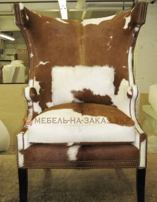 кресло из шкуры коровы