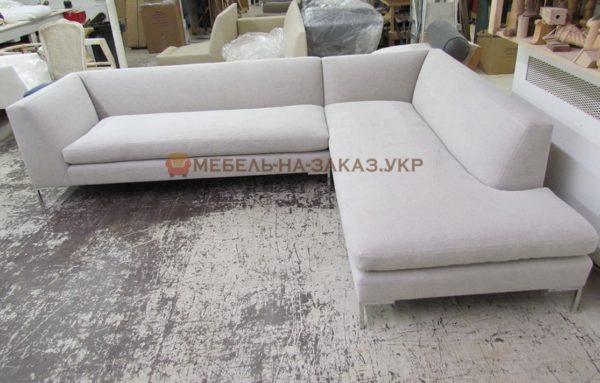 угловой диван на заказ белого цвета