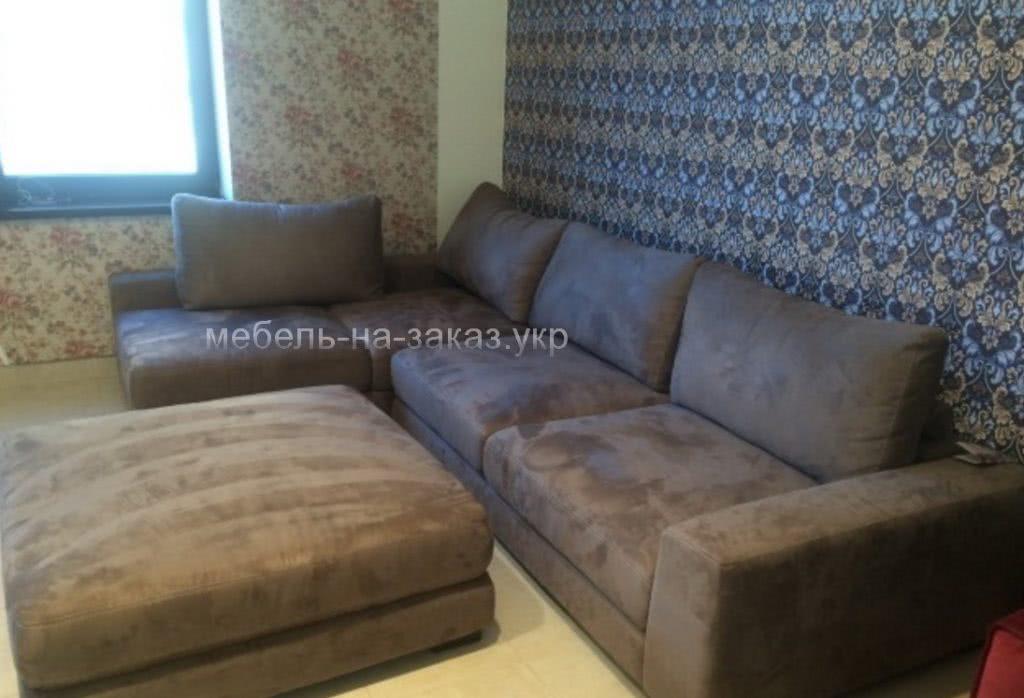 модульный диван коричневый