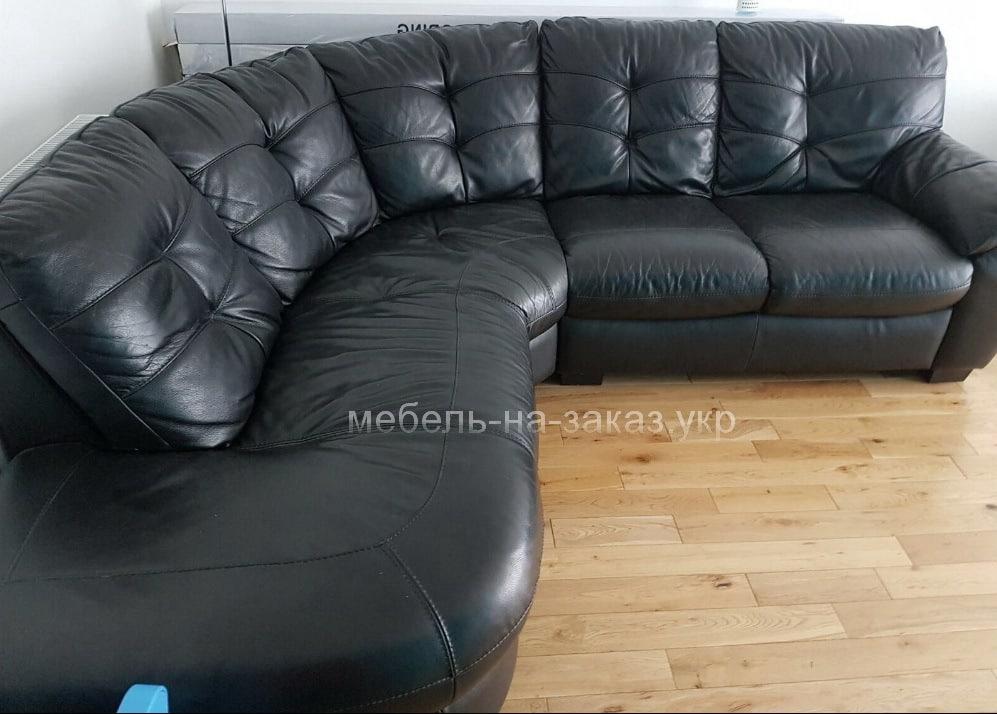черный диван угловой