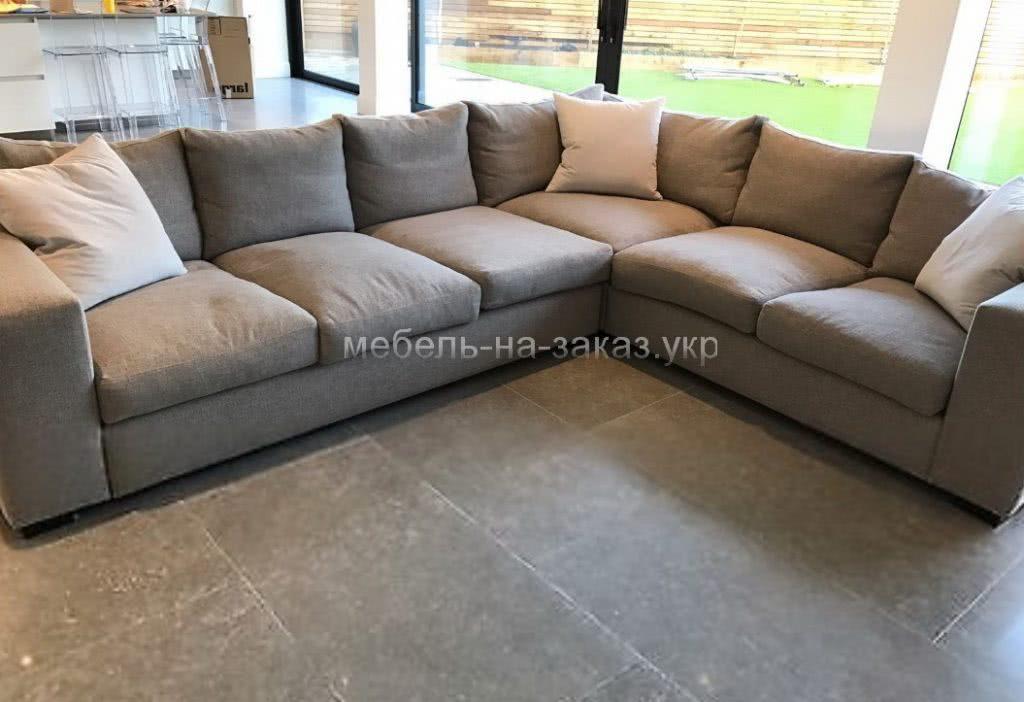 угловой диван серый