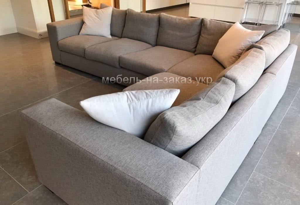 диван с подушками угловой